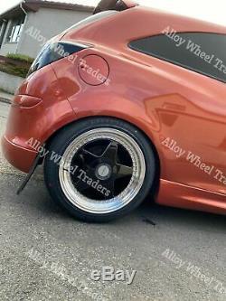 17 Noir DR-F5 Roues Alliage Pour Renault Clio Kangoo Megane Modus Twingo 4x100