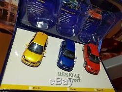 1/43 coffret renault sport megane Clio rs v6