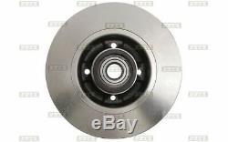 2x BOLK Disques de Frein Arrière Plein 240mm pour RENAULT MEGANE BOL-E051001