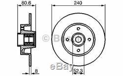 2x BOSCH Disque de frein Arrière pour Renault Megane 1.5 dCi 1.9 dCi 1.6 2.0 1.4