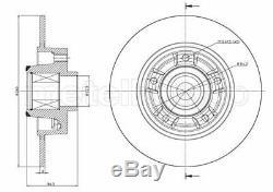 2x METELLI Disque de frein RENAULT MEGANE III Fastback BZ0 CLIO IV