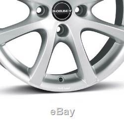 4 Jantes Borbet LV4 6.5x15 ET40 4x100 SIL pour Renault Captur Clio Scénic Kangoo
