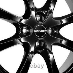 4 Jantes Borbet LV4 6.5x15 ET40 4x100 SW pour Renault Captur Clio Scénic Kangoo