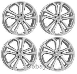 4 Jantes Dezent TA silver 8.0Jx19 5x114,3 pour Renault Clio Espace Fluence Grand