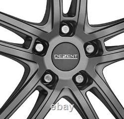 4 Jantes Dezent TZ graphite 6.5Jx16 4x100 pour RENAULT Captur Clio Grand Modus G
