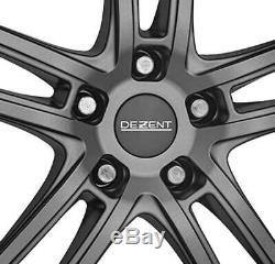 4 Jantes Dezent TZ graphite 7.5Jx17 5x114,3 pour RENAULT Clio Fluence Grand Scen