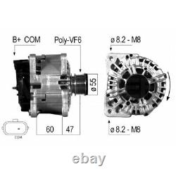 ALTERNATEUR COMPATIBLE AVEC RENAULT CLIO III 1.5 dCi (BR17, CR17) 63KW 86CV EB57