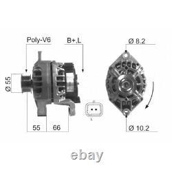 ALTERNATEUR COMPATIBLE AVEC RENAULT CLIO II 1.9 dTi (B/CB0U) 59KW 80CV 12/1999