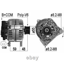 ALTERNATEUR COMPATIBLE AVEC RENAULT MEGANE II Stufenheck 1.6 Hi-Flex 85KW 116CV