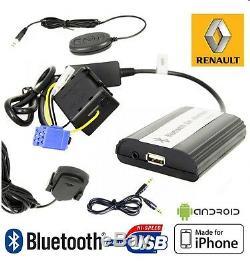 Boîtier USB / Auxiliaire / Bluetooth Pour Renault Megane 2 Clio 3 Scenic Laguna