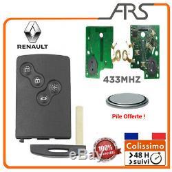 CARTE boitier Télécommande RENAULT CLIO 4 LAGUNA 3 MEGANE 3 +circuit puce 433MHz