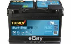 FULMEN Batterie de démarrage 70ah/630A Pour RENAULT MEGANE VW OPEL FL700