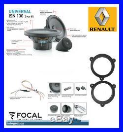 KIT SPEAKER FOCAL RENAULT MEGANE 3 III 2008-2014 130mm 13cm 2 VOIES NEODYME NEW