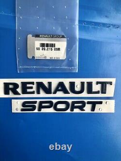 Logo Renault Sport Noir Megane 4 IV Clio Gt Rs Original Badge Emblème 908921509r
