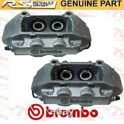 Pour Renault Clio Sport 197 200 Megane Rs 225 230 Etriers de Frein Avant Gris