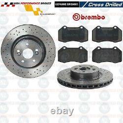 Pour Renault Clio Sport Rs 197 MK3 Avant Perforé Brembo Frein Disques & Patins