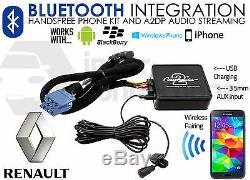 Renault Megane Clio Laguna Bluetooth Adaptateur Streaming Kit Appels IPHONE