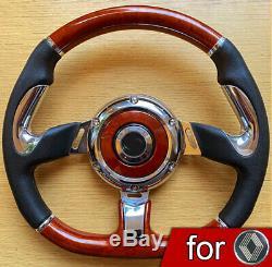 Rétro VOLANT pour Renault R 5 GT Turbo 4 9 11 18 20 19 Clio Megane Twingo Laguna