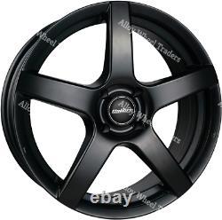 Roues Alliage X 4 16 Noir Allure Pour 5X108 Renault Clio Espace Kangoo Megane