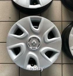 Roues Fer Renault Clio Megane Modus à partir de 15 Usés + 4 Couverture Offre